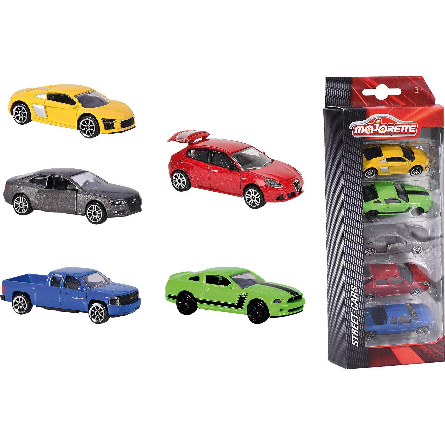Majorette Auto Geschenk-Set, 5-tlg.