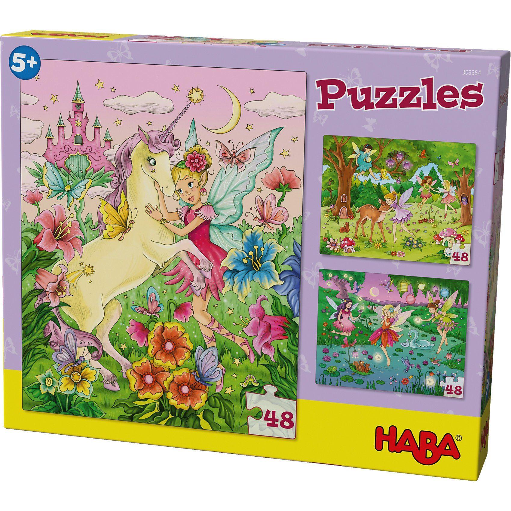 Haba Puzzles - 3 x 48 Teile - Feenzauber