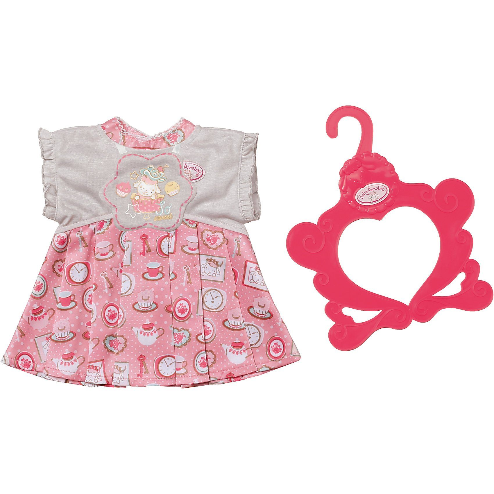 Zapf Creation® Baby Annabell® Kleid, grau/rosa