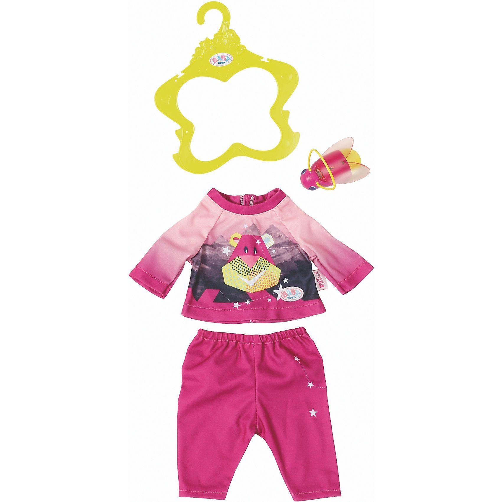 Zapf Creation® BABY born® Play&Fun Nachtlicht Outfit pink