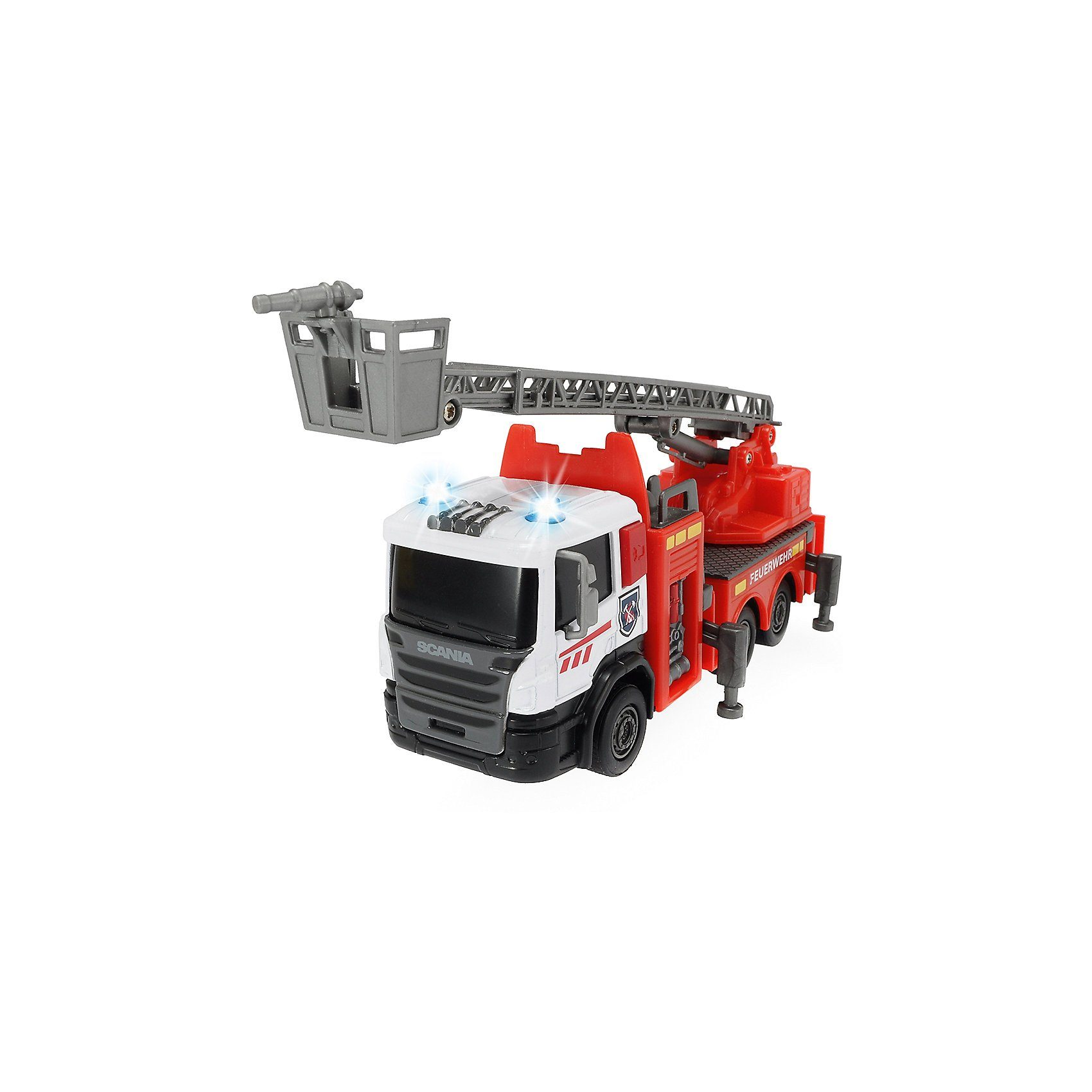 Dickie Toys Scania Fire Engine, Feuerwehr mit ausziehbarer Leiter