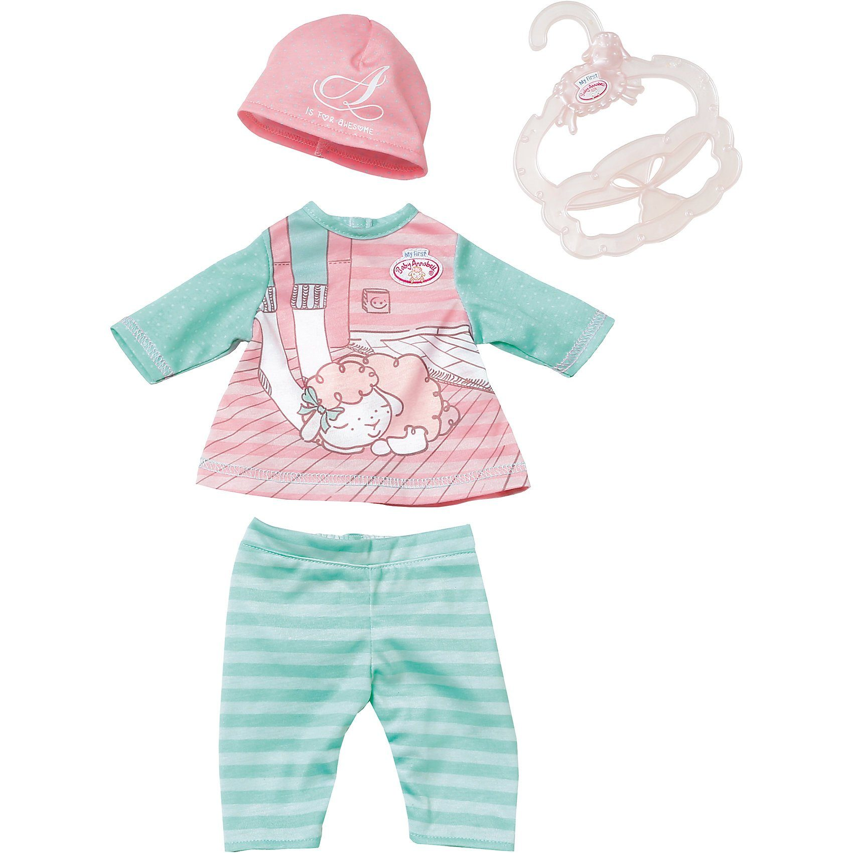 Zapf Creation My First Baby Annabell® Baby Outfit pink hat