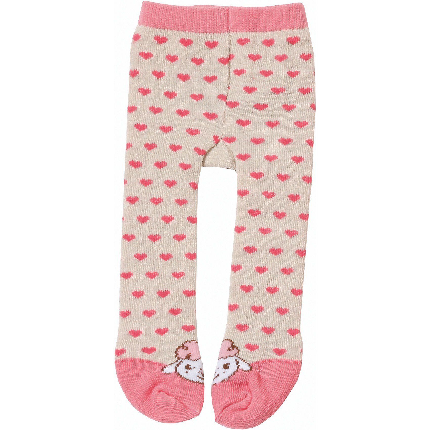 Zapf Creation® Baby Annabell® Strumpfhose rosa/grau