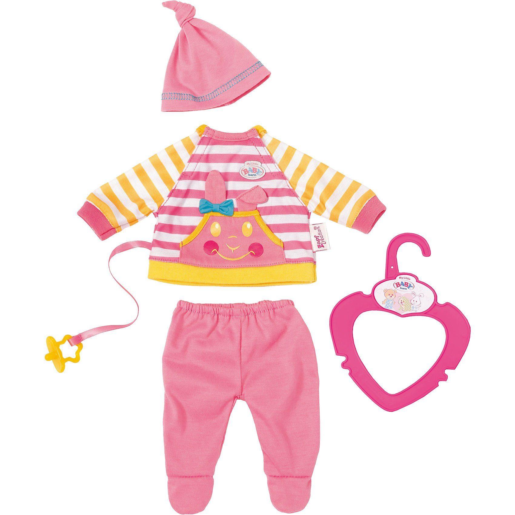 Zapf Creation® My Little BABY born® Schöne Kleidung Strampler gestreift