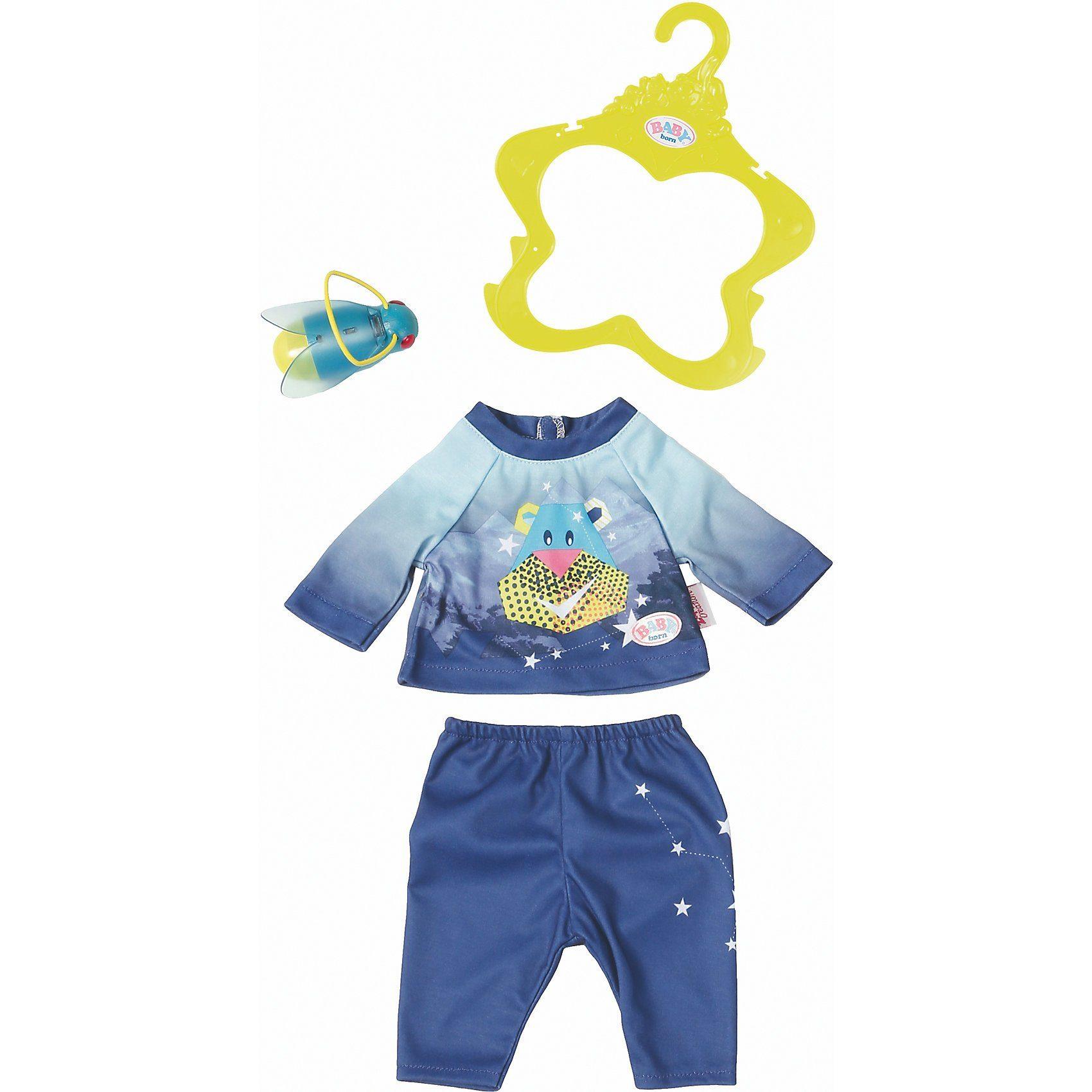 Zapf Creation® BABY born® Play&Fun Nachtlicht Outfit blue Puppenkleidung