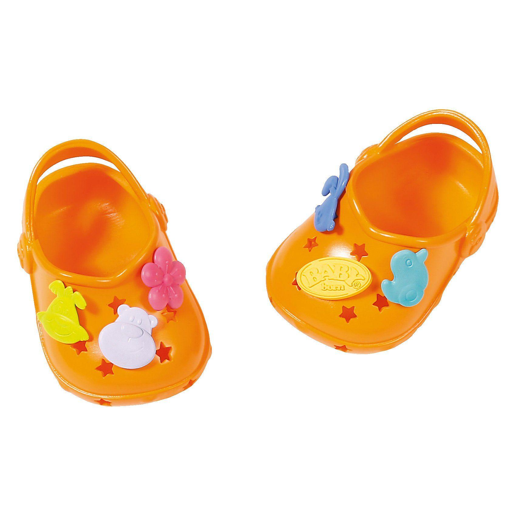 Zapf Creation® BABY born® Clogs mit Pins Orange