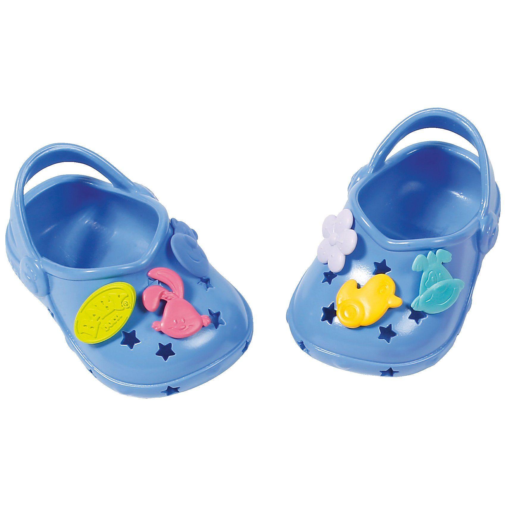 Zapf Creation® BABY born® Clogs mit Pins Blau