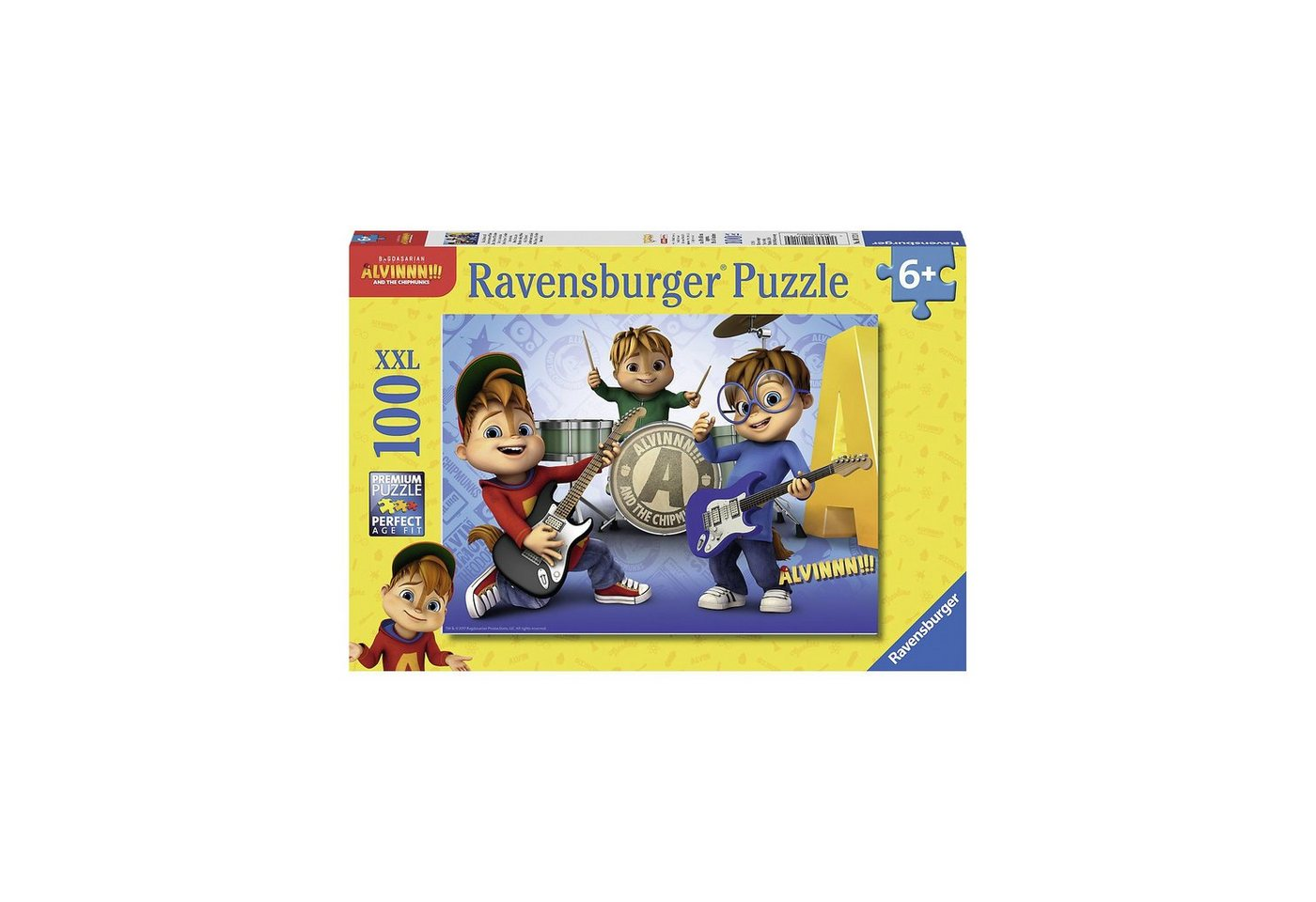 Ravensburger Puzzle, 100 Teile XXL, 49x36 cm, Alvin, Simon, Theodore