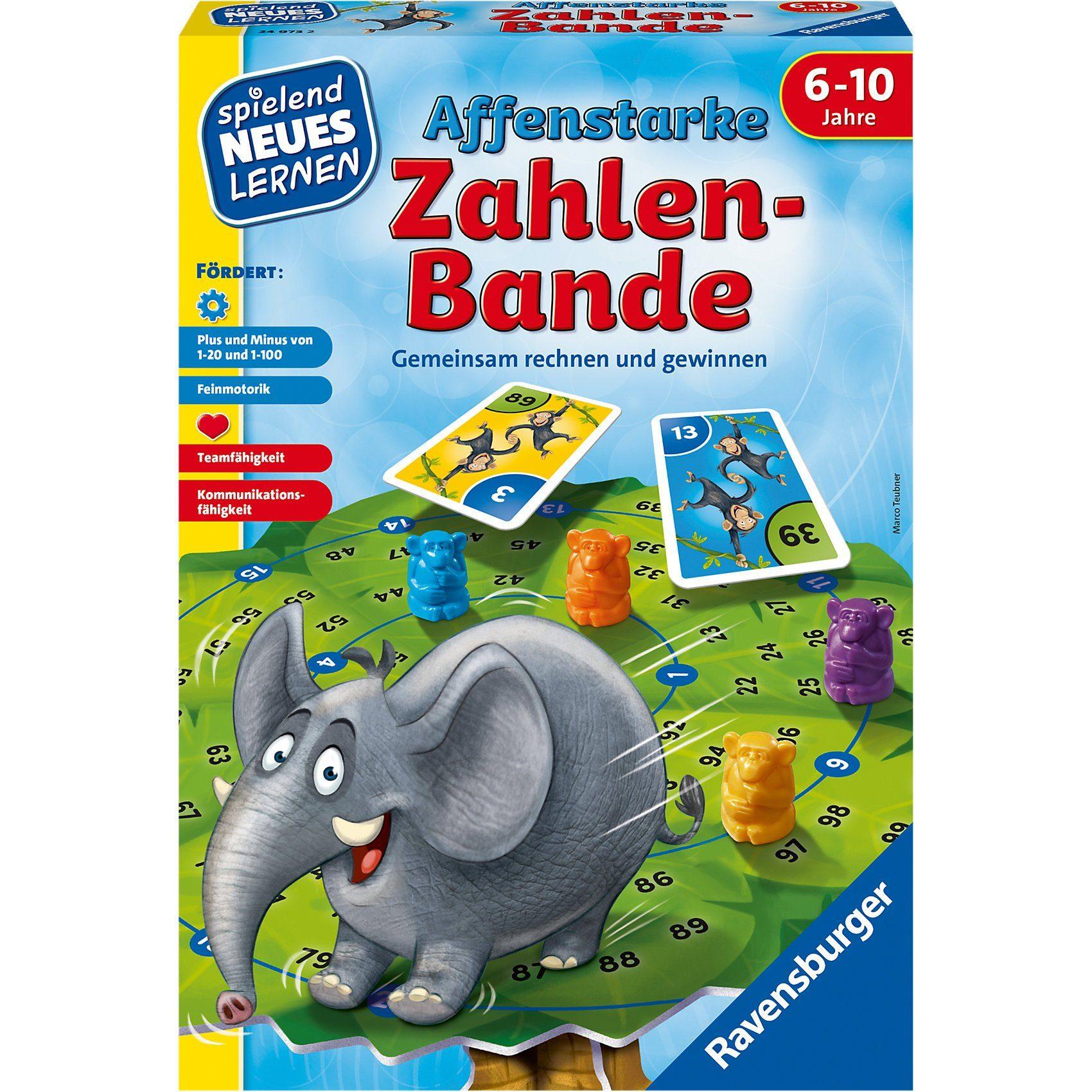 Ravensburger Spielen und Lernen Affenstarke Zahlenbande