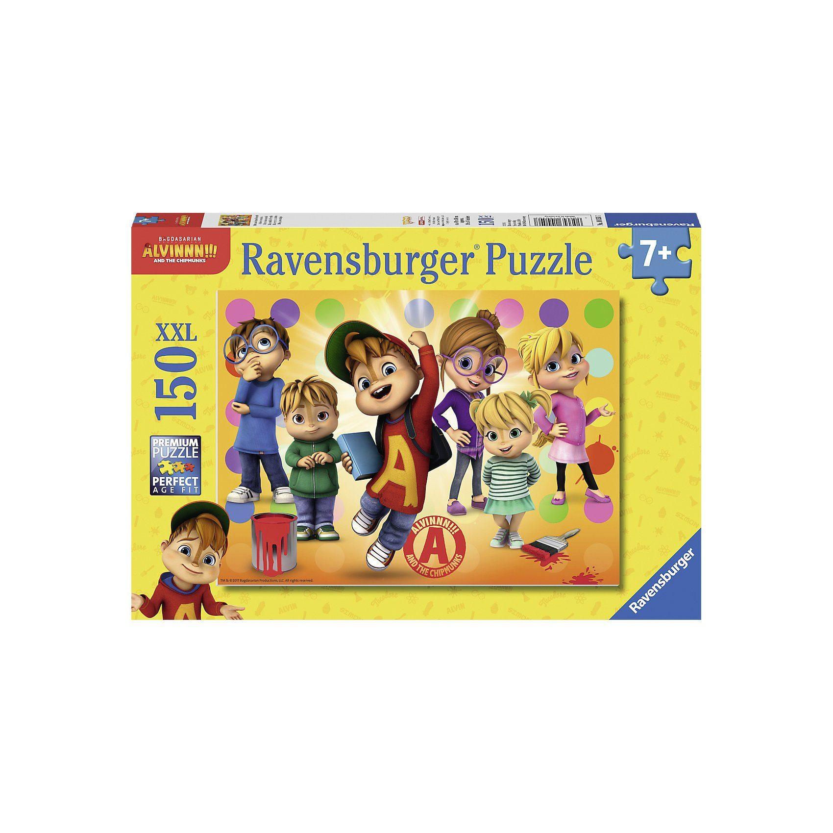 Ravensburger Puzzle, 150 Teile XXL, 49x36 cm, Alvin und seine Freunde