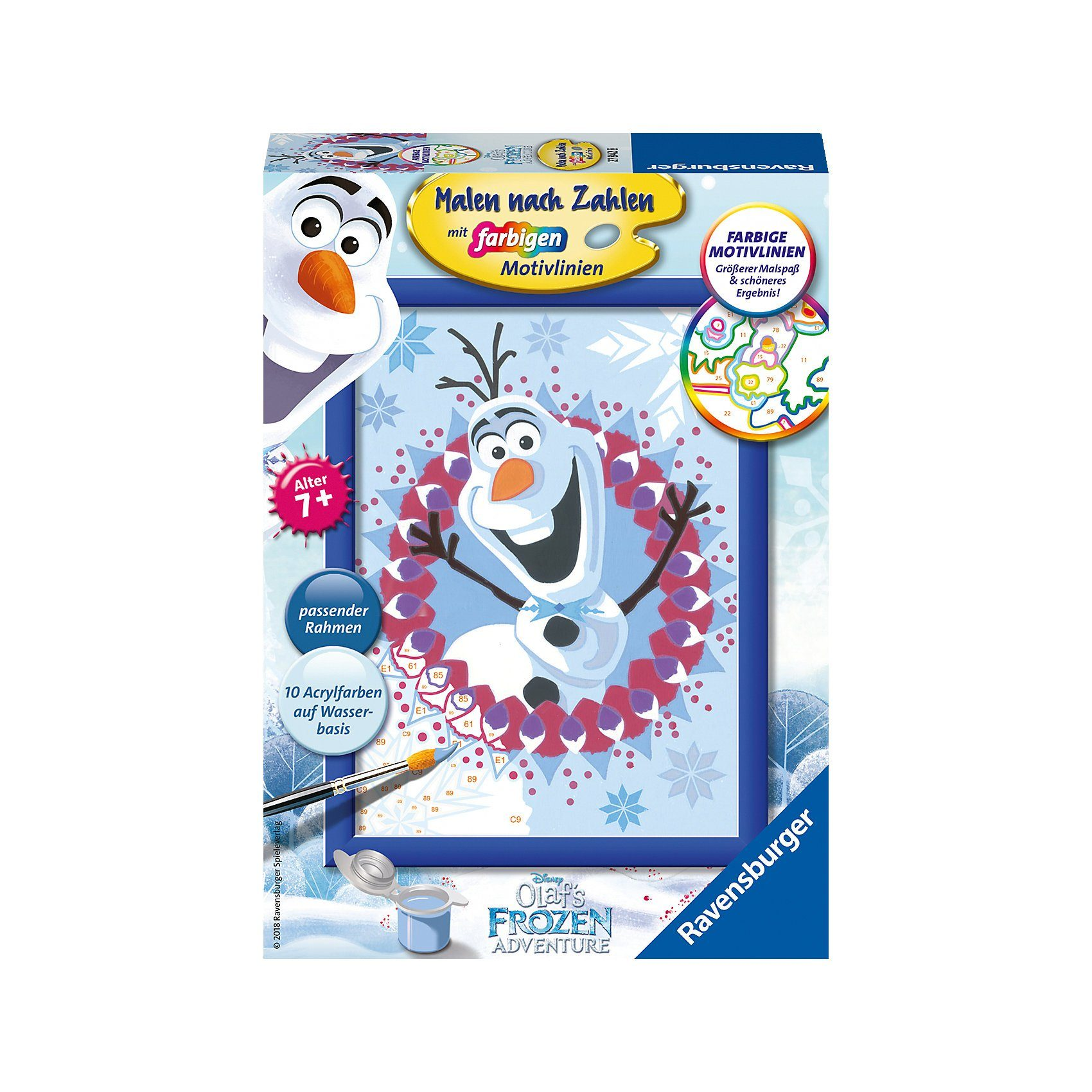 Ravensburger Malen nach Zahlen Serie E Disney Eiskönigin: Olaf