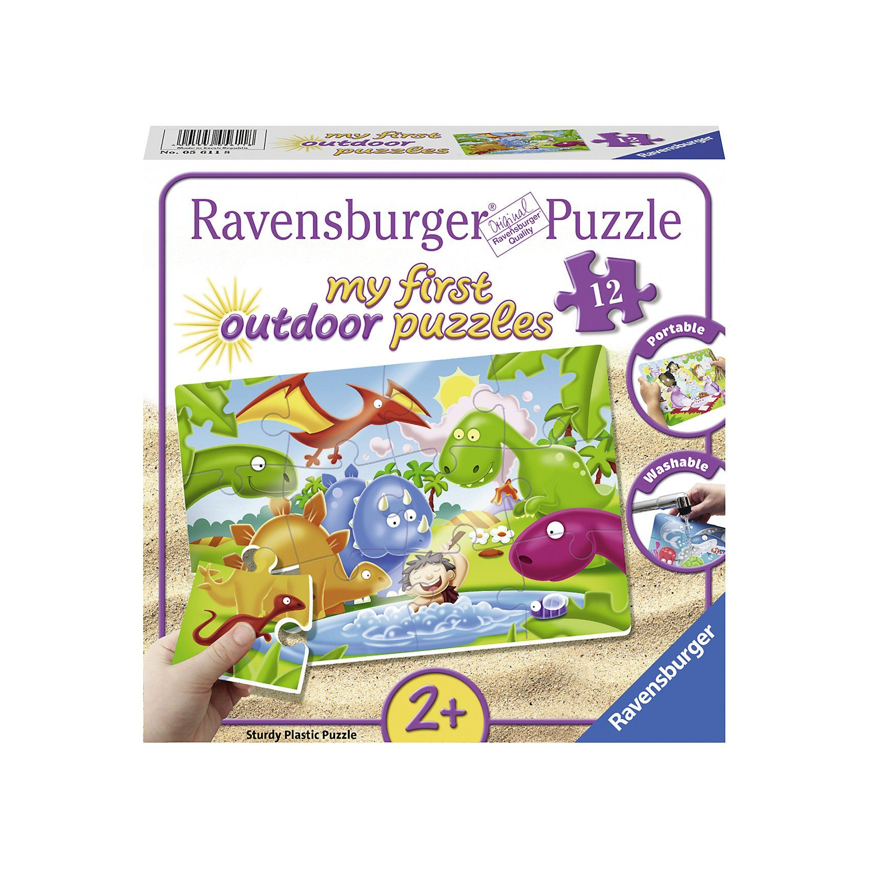 Ravensburger my first Outdoor-Puzzle, 12 Teile, 26x18 cm, Dinosaurier Fre