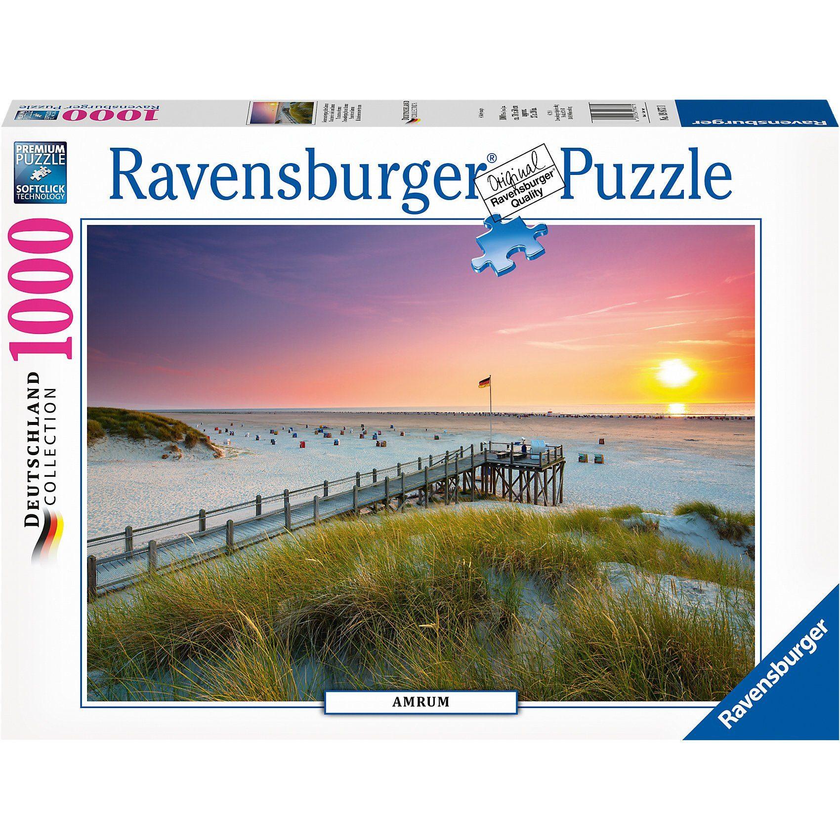 Ravensburger Puzzle 1000 Teile Sonnenuntergang über Amrum