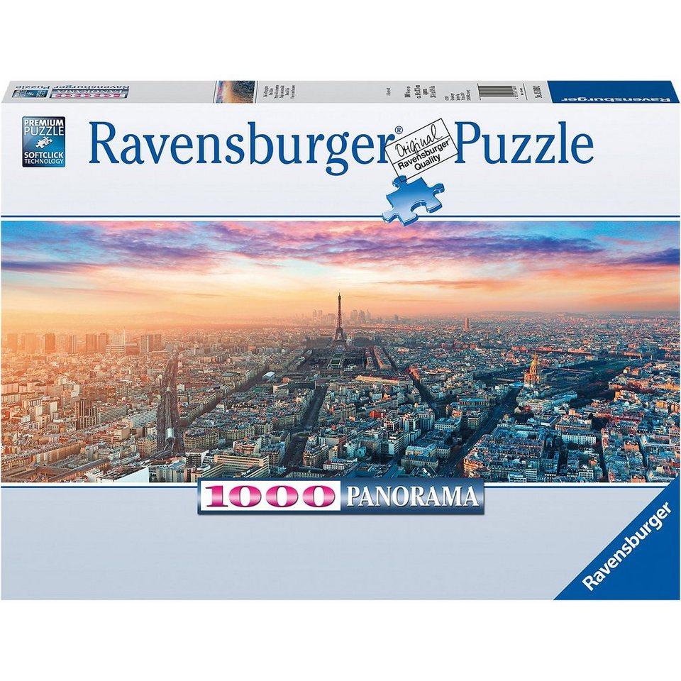 Ravensburger Puzzle 1000 Teile, 98x37 cm, Panorama, Paris im Morgenglanz online kaufen
