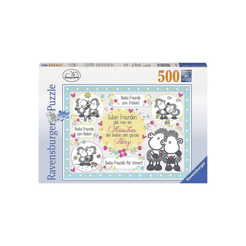 Ravensburger Puzzle 500 Teile sheepworld: Guten Freunden gibt man ...