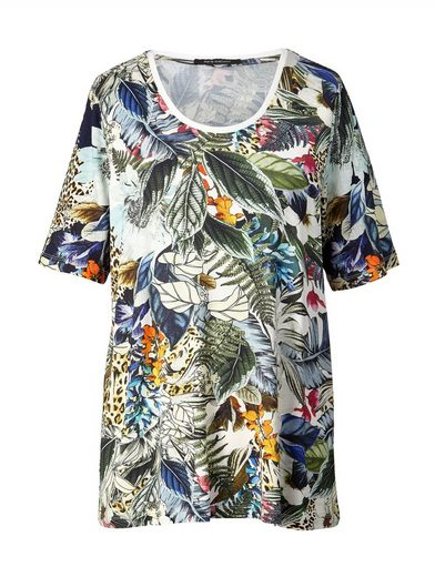 Sara Lindholm by Happy Size Shirt mit Blumen-Print