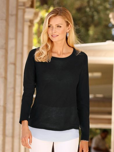 Dress In Pullover mit Bluseneinsatz