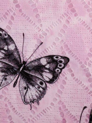 Paola Spitzenshirt mit Schmetterling-Druck