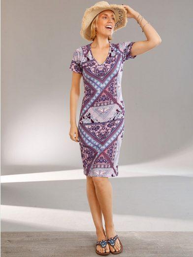 Paola Jerseykleid mit grafischem Alloverdruck