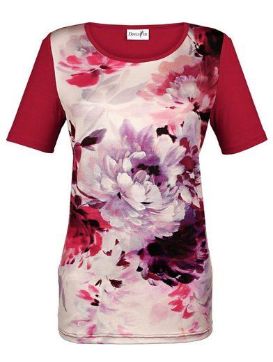Dress In Shirt mit floralem Druck