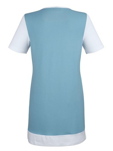 Dress In Longshirt mit Kontrastfarben