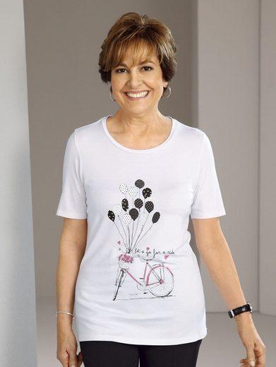 Paola Shirt mit modischem Druckmotiv