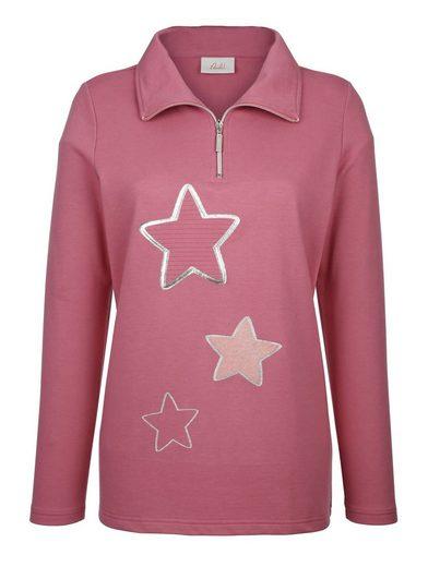 Paola Sweatshirt mit Sterne-Dessin