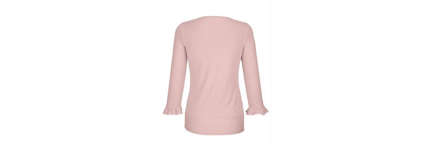 Dress Dress In In mit Shirt Blumenstickerei wwYgrq4