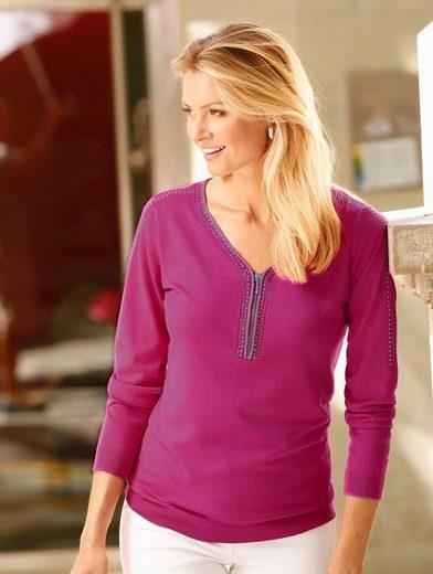 Dress In Pullover mit Ziersteinen