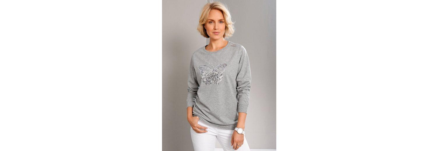 2018 Billig Verkaufen Breite Palette Von Paola Sweatshirt mit Pailetten-Schmetterling Einkaufen i2kpY37PI