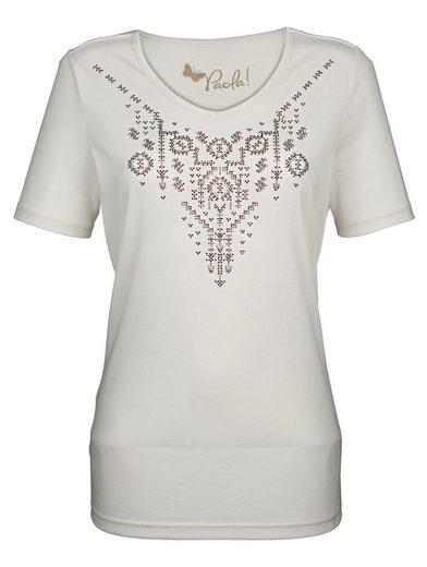 Paola Shirt mit Motiv in Mosaik-Optik