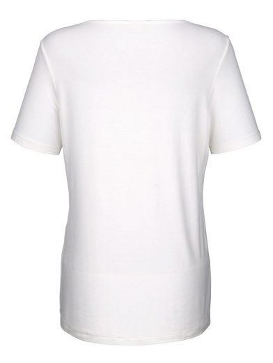 Paola Shirt mit bedrucktem Ausschnitt