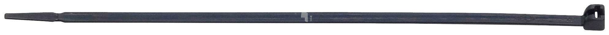 RAMSES Kabelbinder , mit Metallzunge Schwarz 4,8 x 360 mm Kunststoff 100 Stück