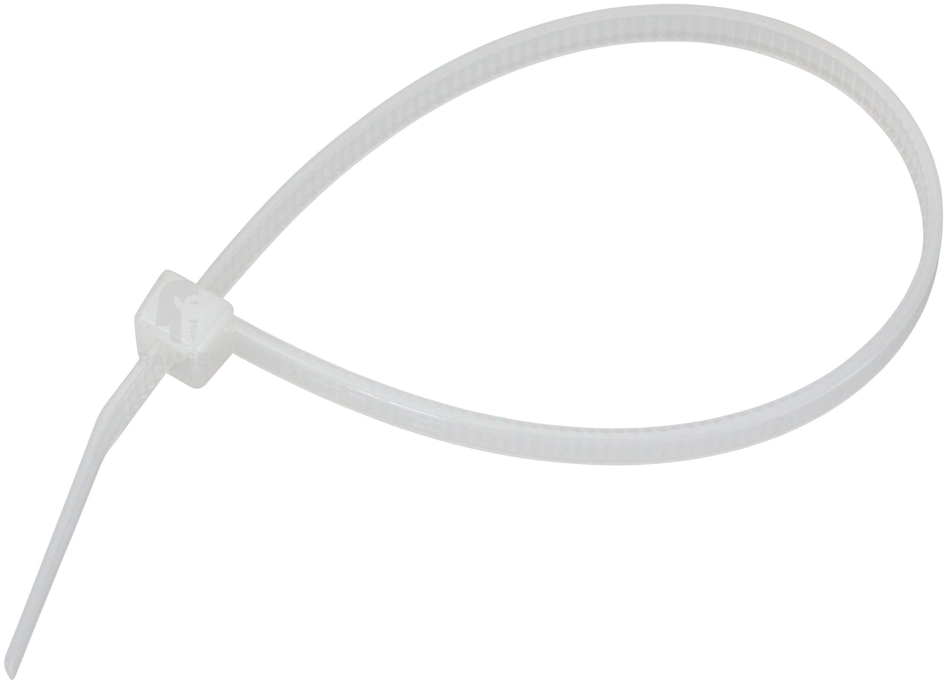 RAMSES Kabelbinder , mit Kunststoffzunge Weiß 7,5 x 365 mm Polyamid 100 Stück