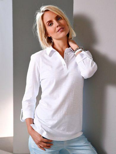 Paola Poloshirt mit Strassknöpfen