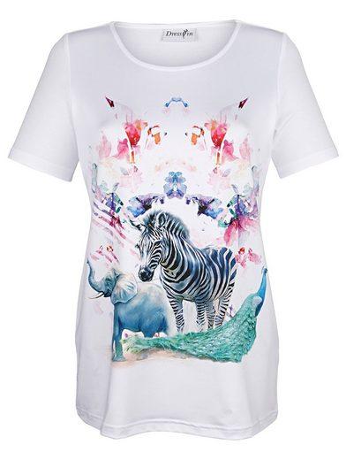 Dress In Shirt mit exotischem Druck