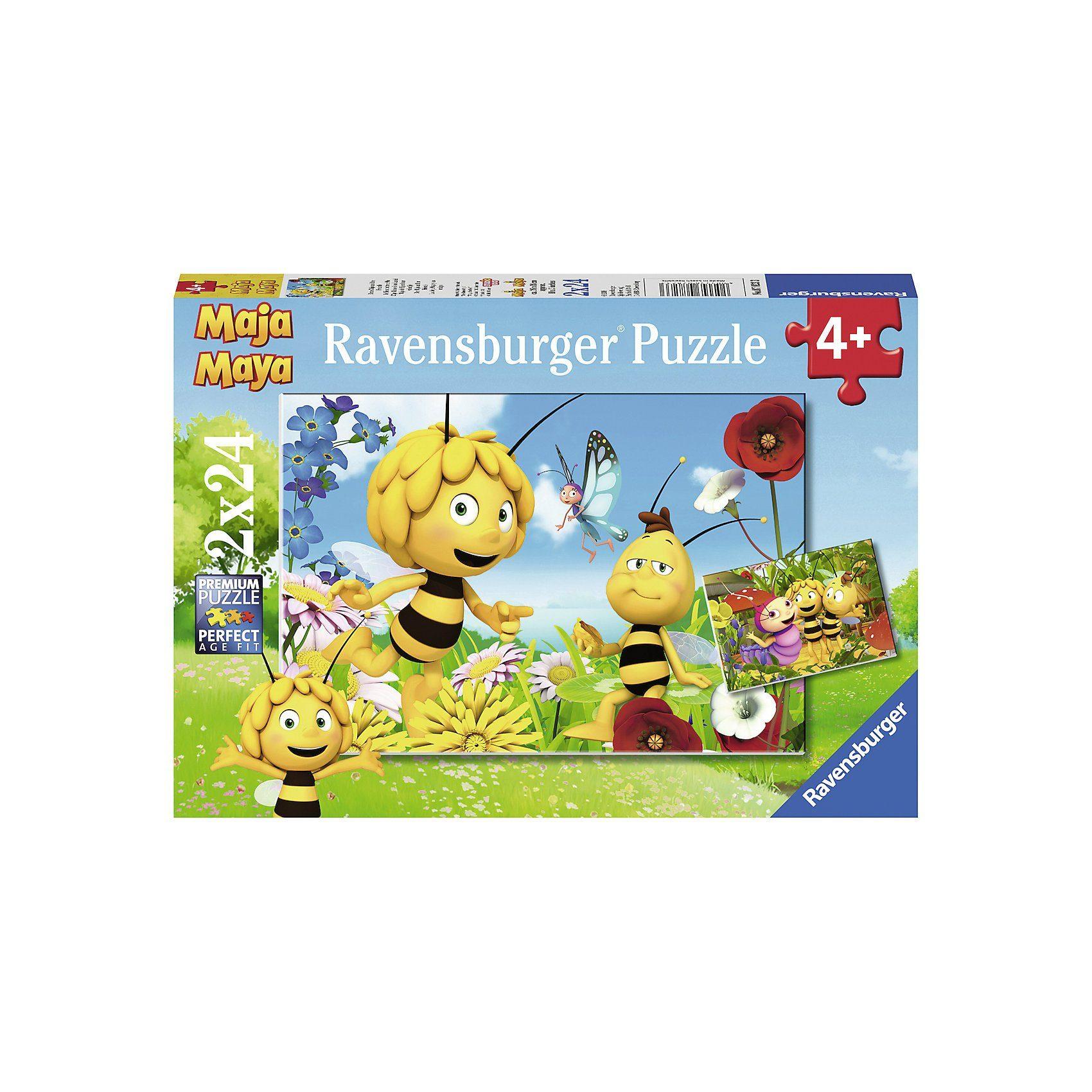 Ravensburger Puzzle 2 x 24 Teile Biene Maja und ihre Freude
