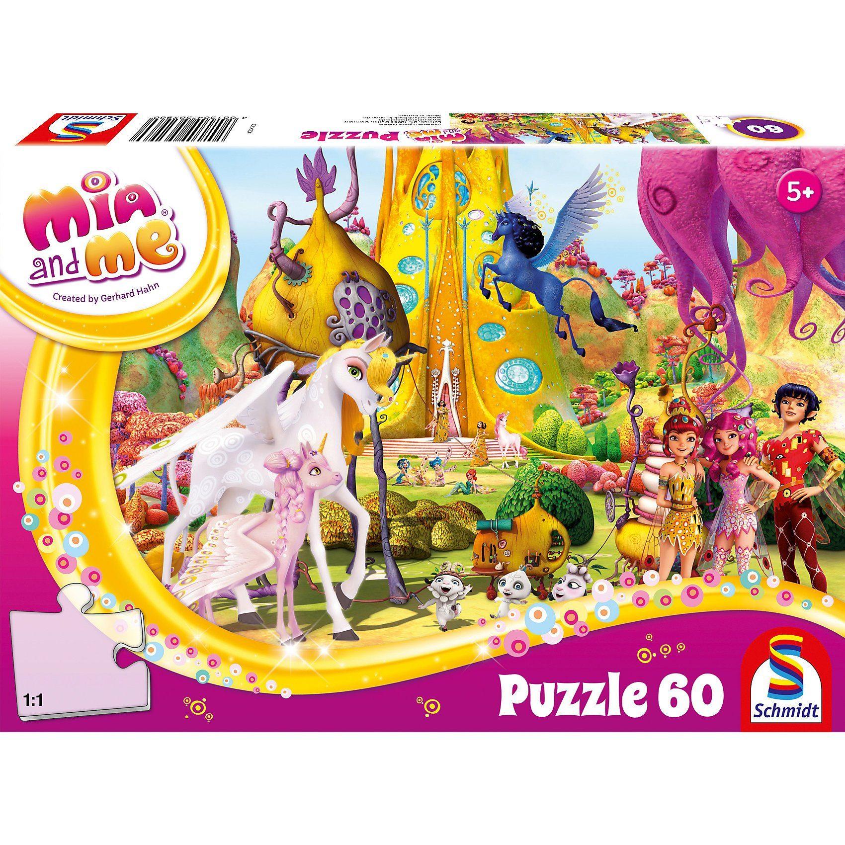 Schmidt Spiele Puzzle 60 Teile Mia and Me Phuddles Klebonadeprozessor