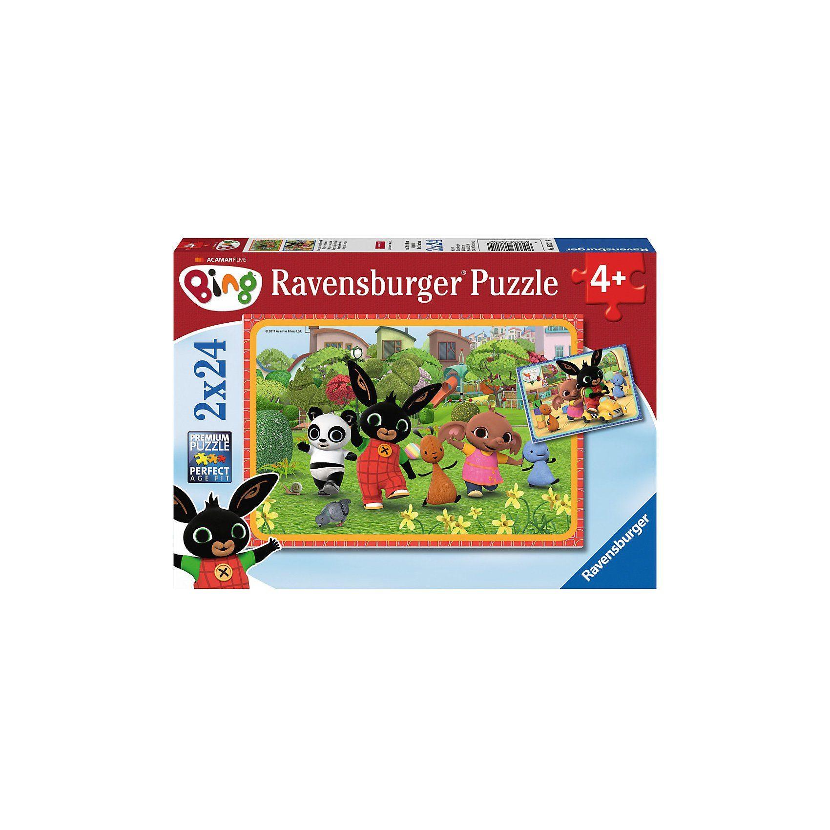 Ravensburger Puzzleset 2 x 24 Teile Bing und seine Freunde