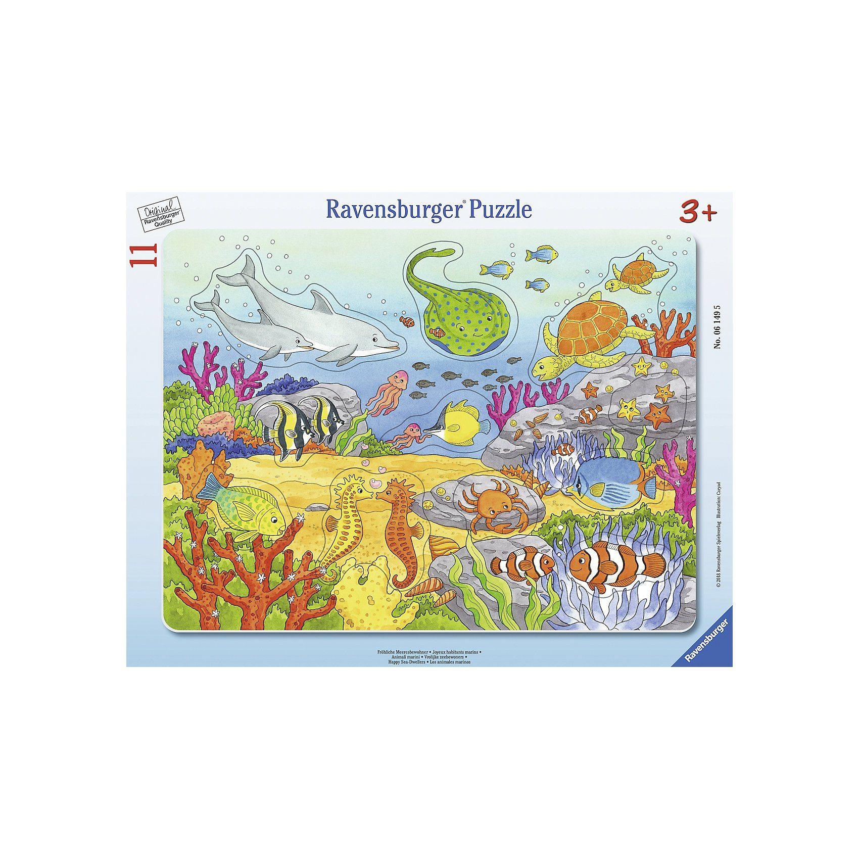 Ravensburger Rahmenpuzzle 11 Teile Fröhliche Meeresbewohner