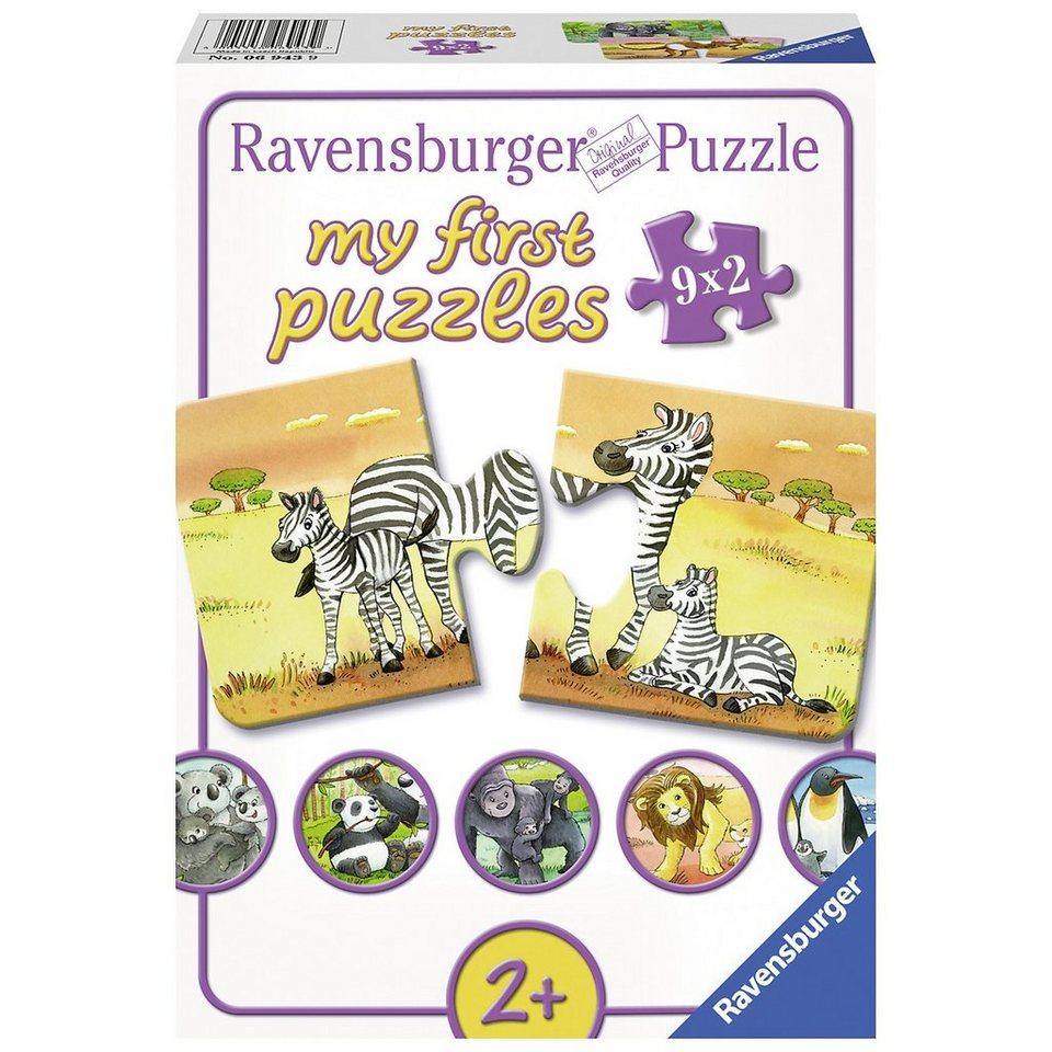 Ravensburger My first Puzzles 9 x 2 Teile Süße Tierfamilien online ...