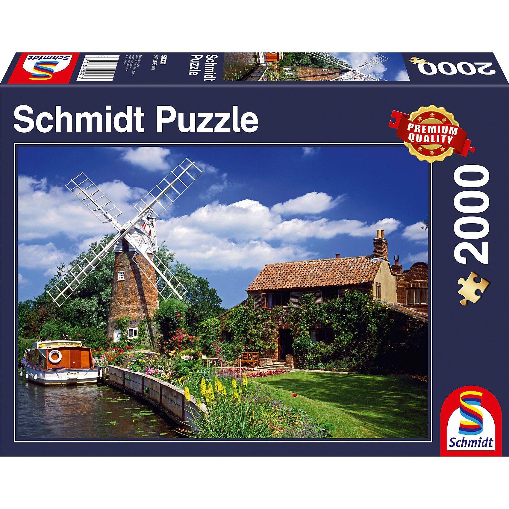 Schmidt Spiele Puzzle 1000 Teile Unterwegs mit dem Hausboot