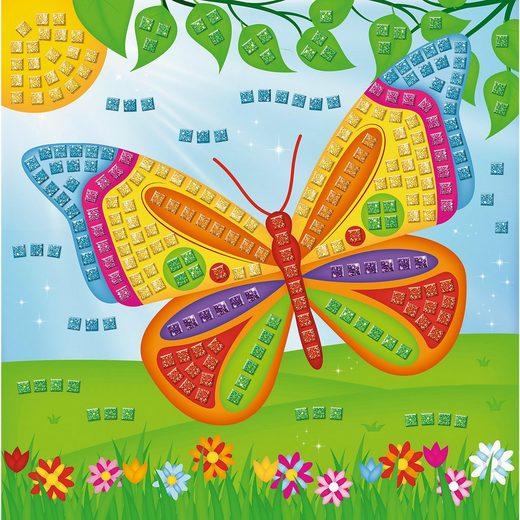URSUS Moosgummi Mosaik Glitter Schmetterling