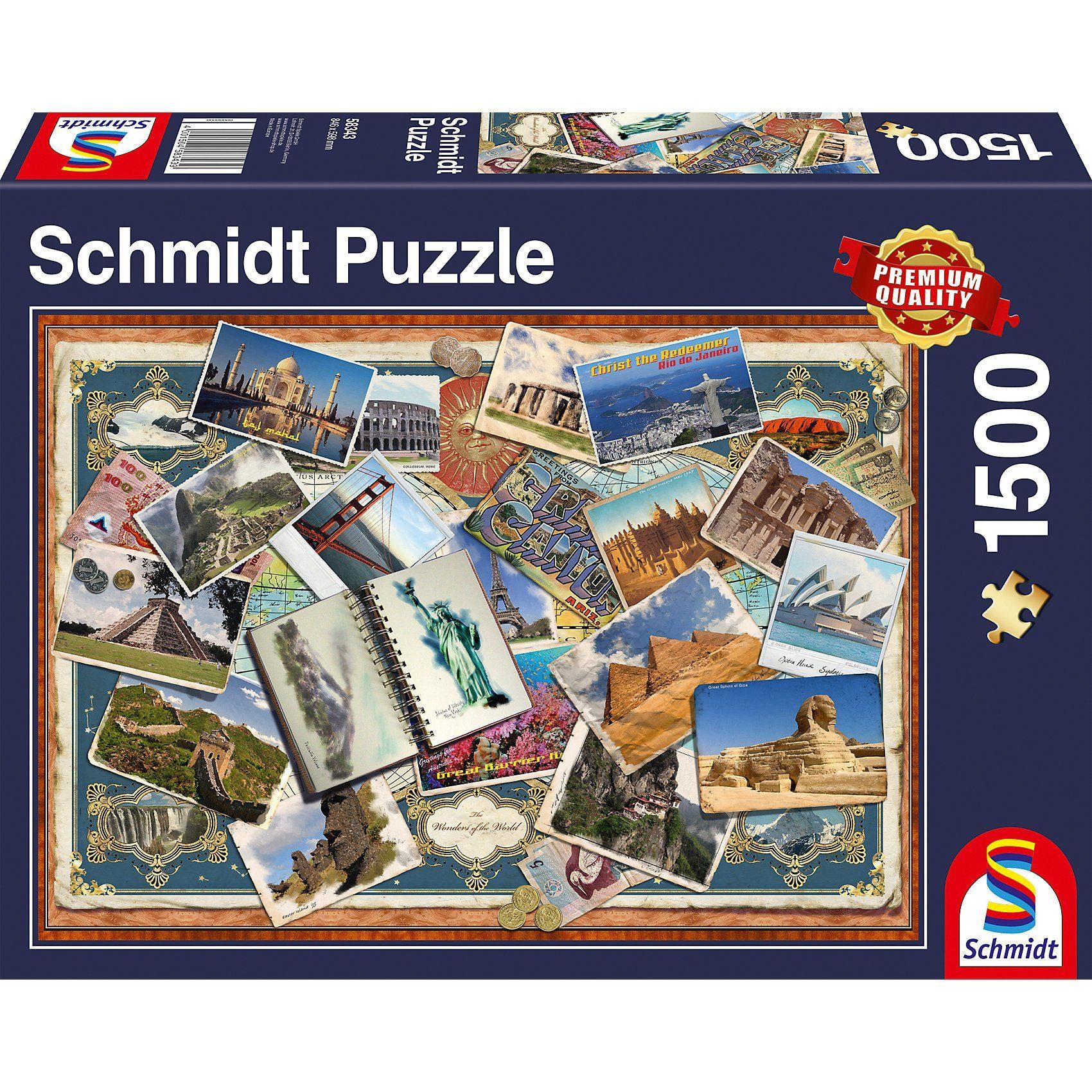 Schmidt Spiele Puzzle 1500 Teile Grüße aus aller Welt