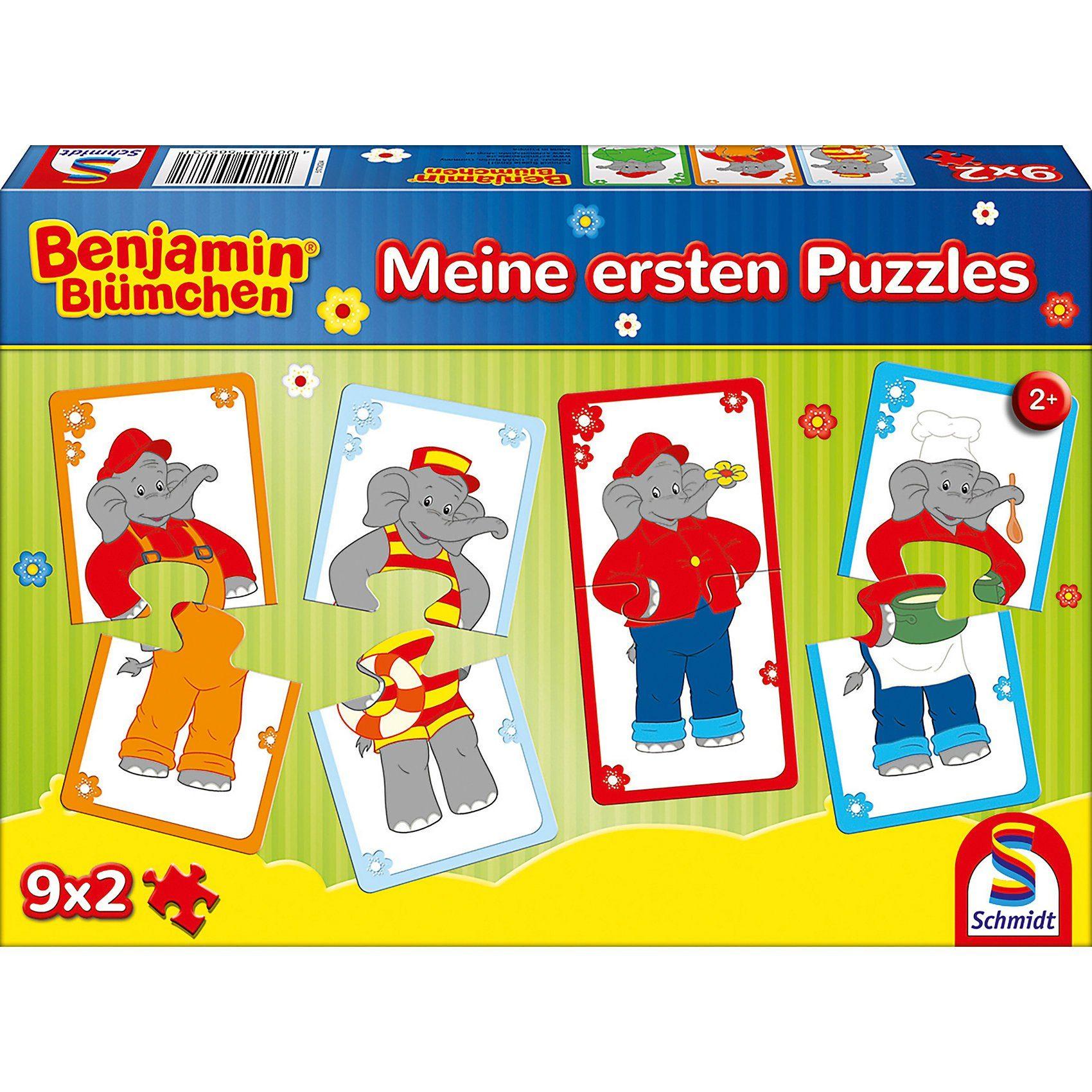 Schmidt Spiele Puzzleset 9 x 2 Teile Meine ersten Puzzles Benjamin Blümchen
