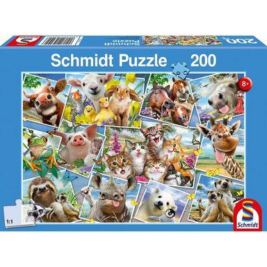 Schmidt Spiele Puzzle 200 Teile Tierische Selfies