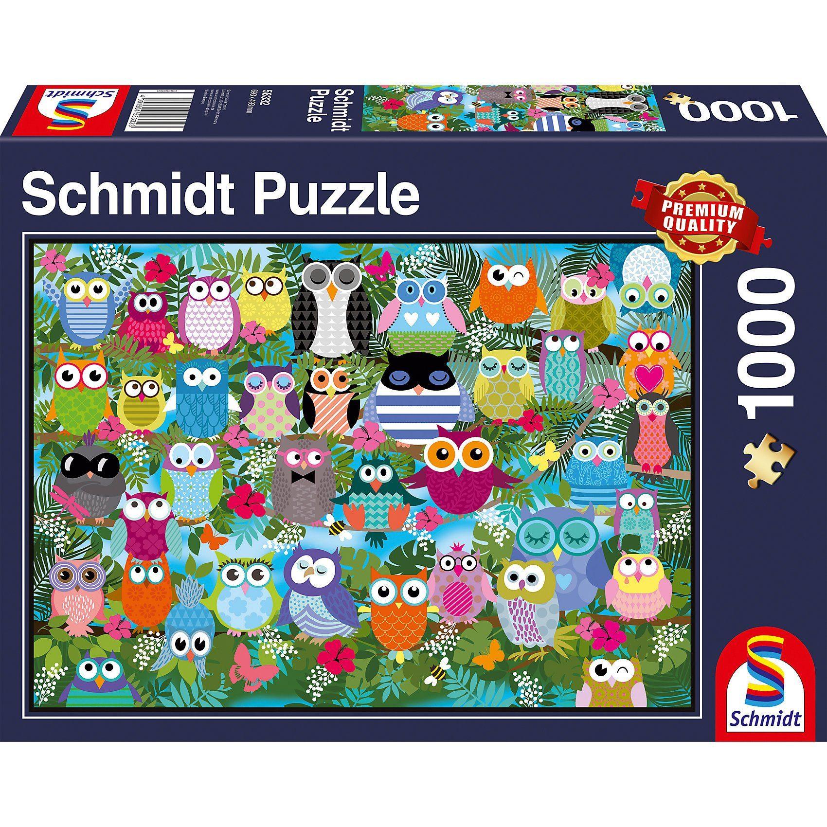 Schmidt Spiele Puzzle 1000 Teile Eulen-Collage