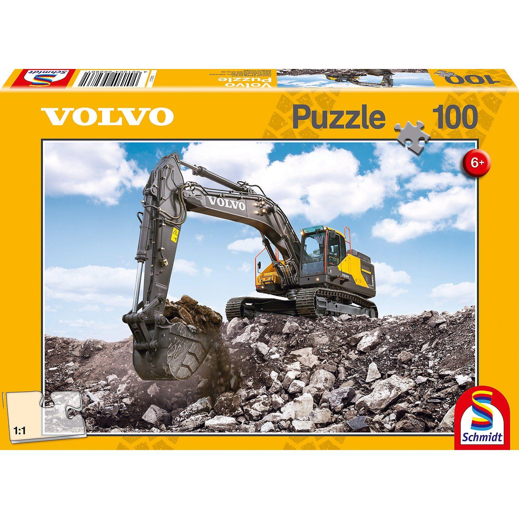 Schmidt Spiele Puzzle 100 Teile Bagger Volvo EC380E