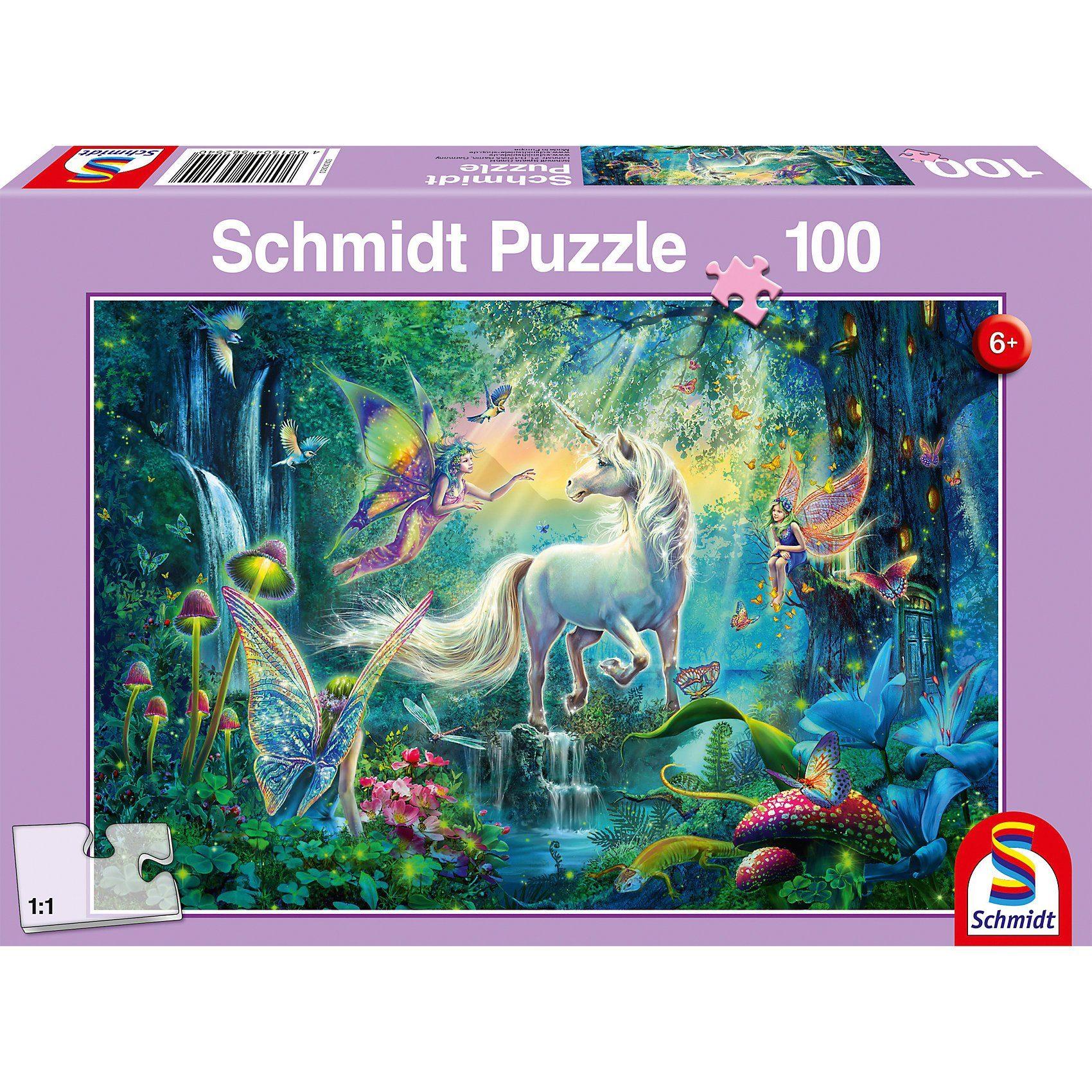Schmidt Spiele Puzzle 100 Teile Im Land der Fabelwesen