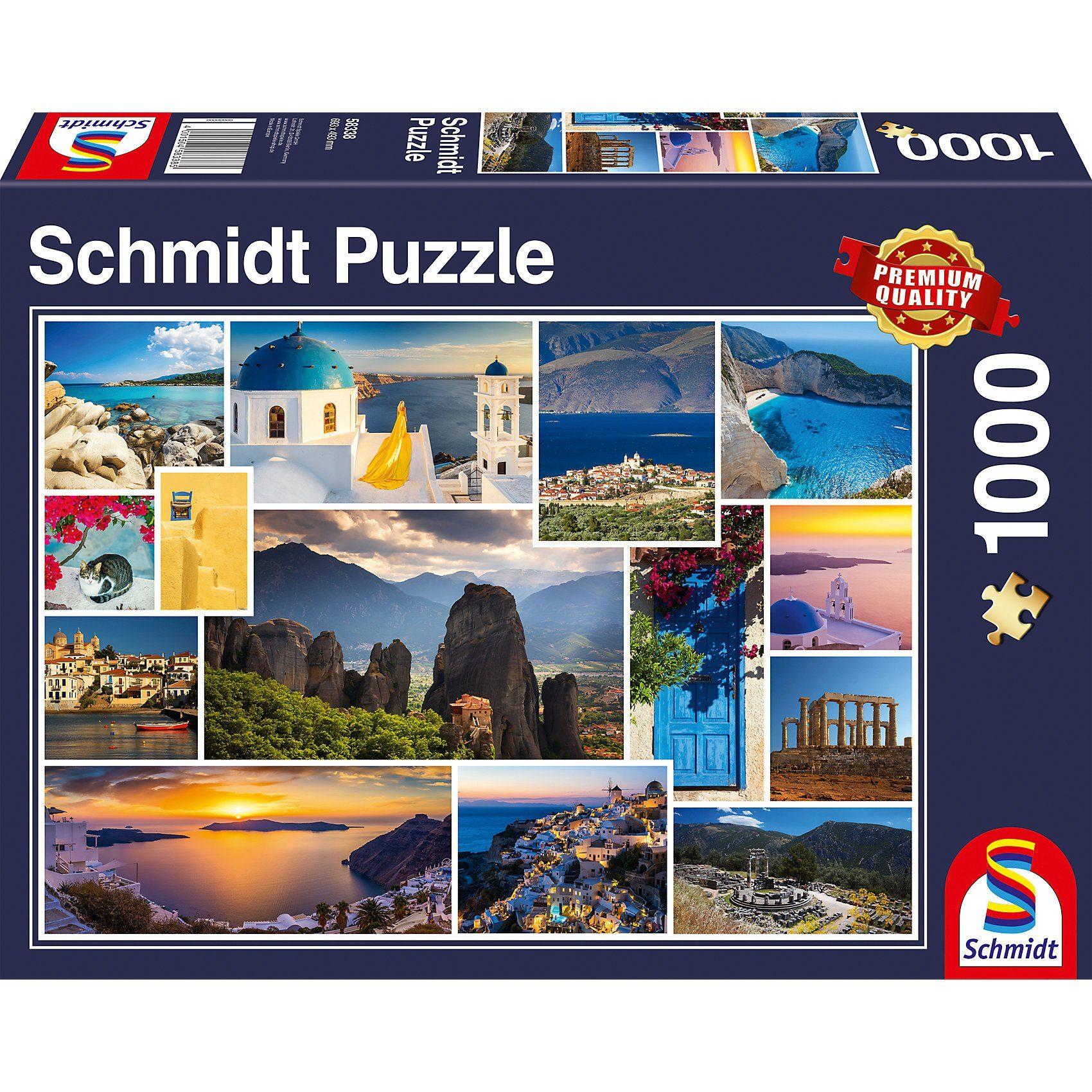 Schmidt Spiele Puzzle 1000 Teile Mach mal Urlaub in … Griechenland